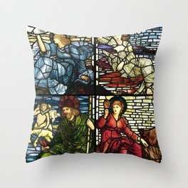 """Edward Burne-Jones """"Stained glass collection"""" Throw Pillow"""