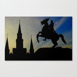 Landmark Silhouettes in Casa de Armas Canvas Print