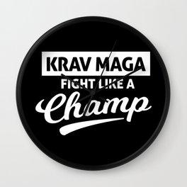 Krav Maga Champion Martial Arts Training Wall Clock