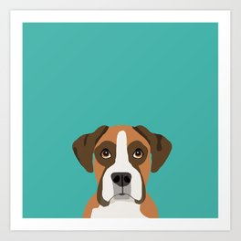 Boxer head dog breed gifts cute pupper Boxers must haves Art Print