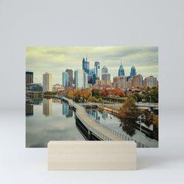 Philadelphia Fall Skyline Mini Art Print