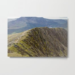 Mount Snowdon in Snowdonia, Wales Metal Print