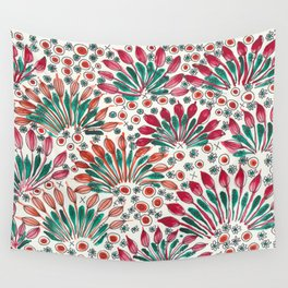 Peacock flowers Wall Tapestry