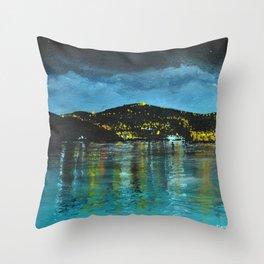 St Thomas at Night Throw Pillow