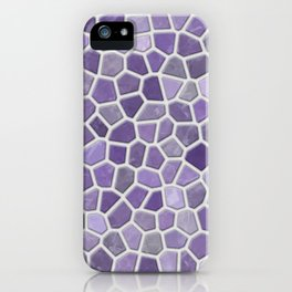 Faux Stone Mosaic in Lavender iPhone Case