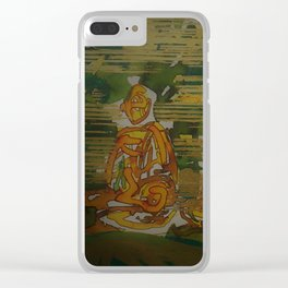 Meditation Circle Clear iPhone Case