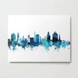 Durham North Carolina Skyline Metal Print