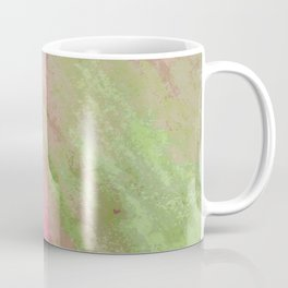 Abstract pink green watercolor ombre brushstrokes Coffee Mug