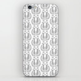 Tulip Pattern Grey iPhone Skin