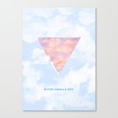V is for Vanilla Sky Canvas Print