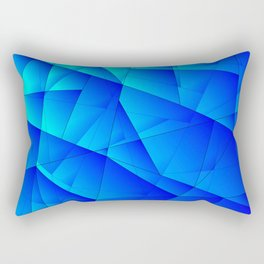 Bright sea pattern of heavenly and blue triangles and irregularly shaped lines. Rectangular Pillow