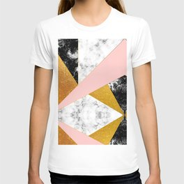 Golden foil and marble T-shirt