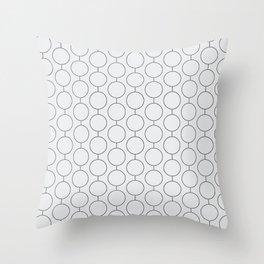 RINGS Light Grey Throw Pillow