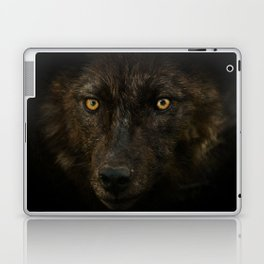 Black Wolf Laptop & iPad Skin
