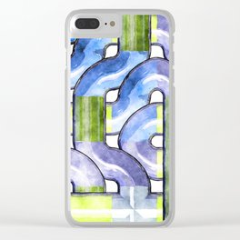 Pipelines watercolor Clear iPhone Case