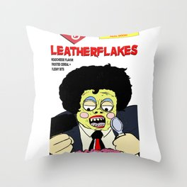 Leatherflakes: Eat The Texas Chainsaw Massacre for Breakfast Throw Pillow