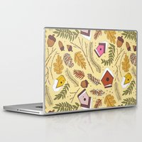 70s Laptop & iPad Skins featuring 70s Woodland by Aron Gelineau