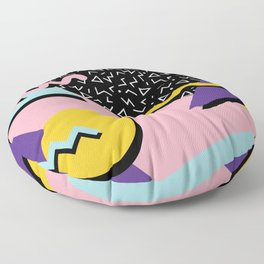 Memphis Pattern 23 - 80s Retro - Pastel Colors Floor Pillow