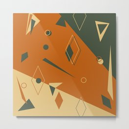 Geometrical style print illustration Metal Print