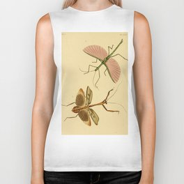 Naturalist Stick Bugs Biker Tank