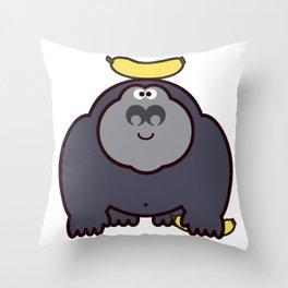 Go bananas! Throw Pillow