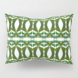 Palm Leaf Kaleidoscope (on white) #2 Pillow Sham
