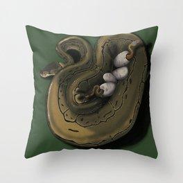 Ball Python Family Art Throw Pillow