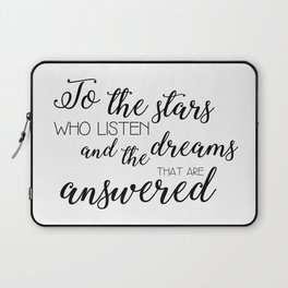 to the stars who listen (acomaf) Laptop Sleeve