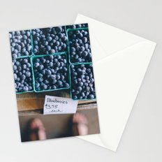 Blueberries at the Farmer's Market Stationery Cards