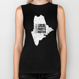 Maine Drink Local gift Gift for ME Craft Beer Drinkers, Drink Local, Brewing Gift for Brewers and Biker Tank