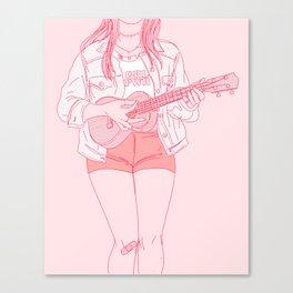 ukulele player Canvas Print