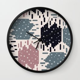 Starry shapes Wall Clock