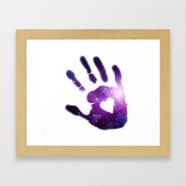 Galaxy Hand Framed Art Print
