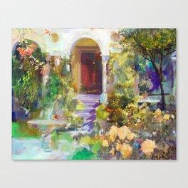 Spanish Garden Canvas Print