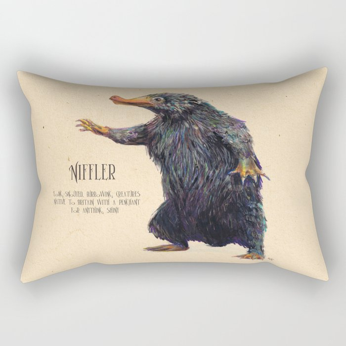 Niffler art Fantastic Beasts Rectangular Pillow