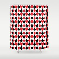 suits Shower Curtains featuring French Suits by Jennifer Agu