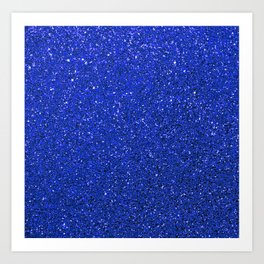 blue glitter Art Print
