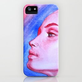 Red Meets Blue iPhone Case