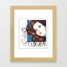 Girl in Watercolours Framed Art Print