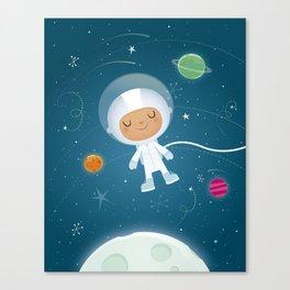 Little Astronaut Canvas Print