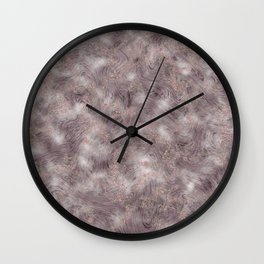 Gray Marble Pattern with Rose Gold Wall Clock