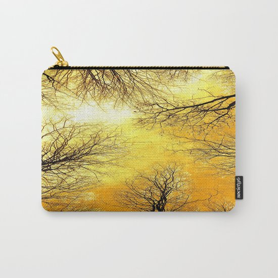 Black Trees Golden Sky Carry-All Pouch