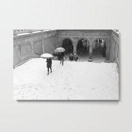 Winter Walk in New York Metal Print