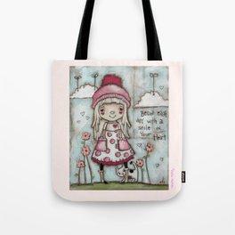 Happy Heart - Motivational Art for Girls Tote Bag