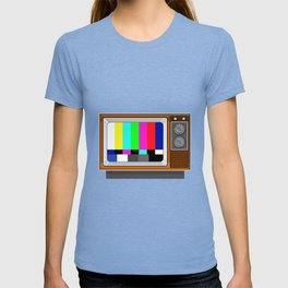 Retro Television Set TV Test Card Signal Pattern T-shirt
