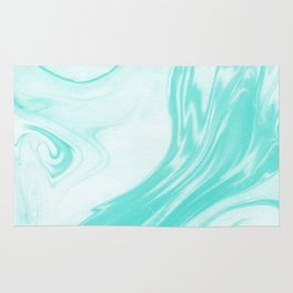 Enoshima - spilled ink abstract painting water ocean japanese wave marble marbling marbled pattern Rug