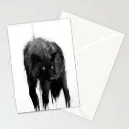 black dog Stationery Cards