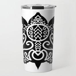 Snapper Turtle Black Silhouette Travel Mug