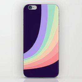 Retro Dark Rainbow iPhone Skin