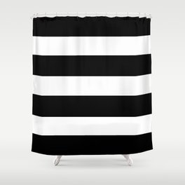 Mariniere marinière black and white Shower Curtain